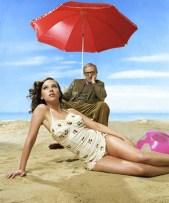 Scarlett Johansson And Woody Allen Enjoy The Beach