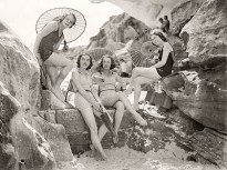 Sydney ballet dancers pose for the camera at Tamarama Beach. 1933