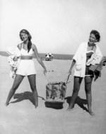 Sylvia Plath and Elizabeth Cantor, Nauset Beach, Cape Cod, 1952