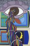 Επί συγχρόνων αισθήσεων Λάδι σε μουσαμά , 150 x 100 εκ.