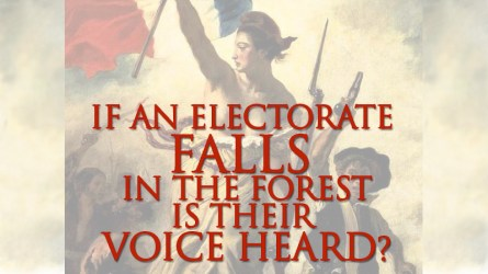 If an electorate falls in the forest, is their voice heard?, Danielle DiMartino Booth, @dimartinobooth, Fed Up