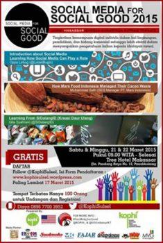 Social Media for Social Good 2015