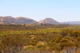 View From Namatjira Drive On Way To Ochre Pits (NT)