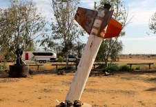 Used Rocket Stages From Old Woomera Rocket Range - William Creek (SA)