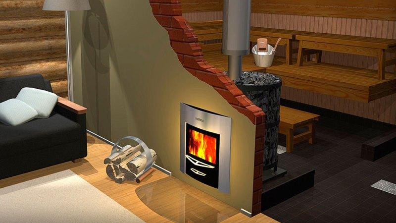 Печь для бани из кирпича с баком для воды  фото 41