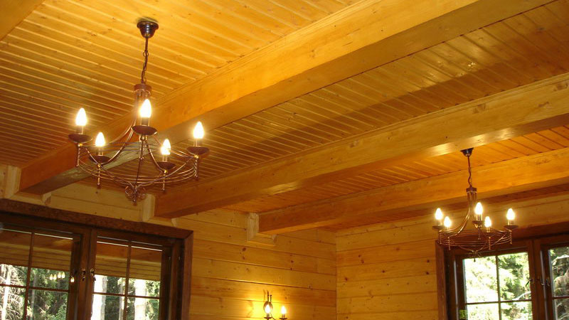 фото отделки потолка