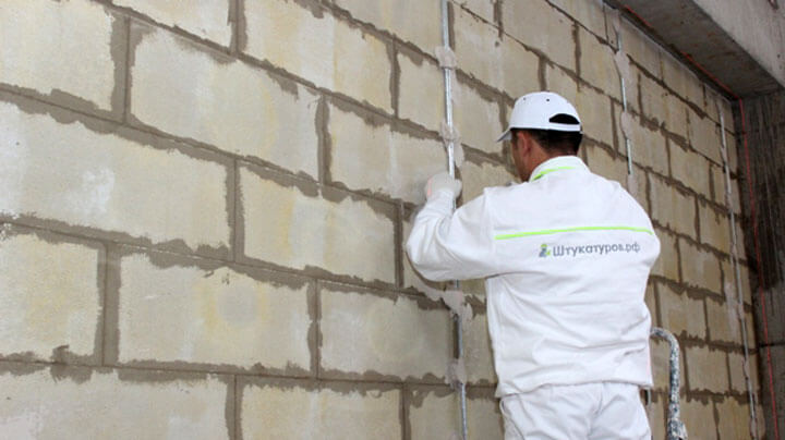 Механизированная штукатурка стен (машинный способ)