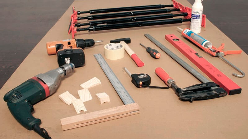 инструменты для монтажа окон пвх