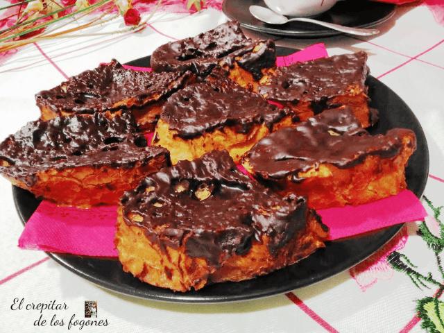 TORRIJAS AL HORNO CON CHOCOLATE