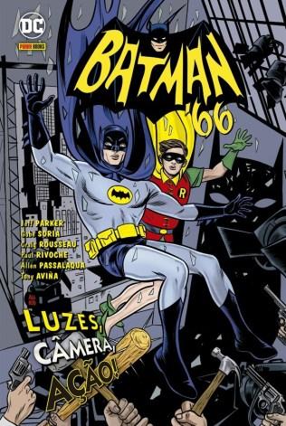Capa do encadernado Batman'66 – Luz, Câmera e Ação