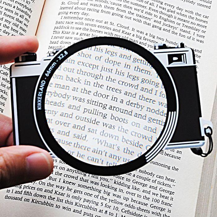 Penanda Halaman Buku Bentuk kamera pembesar