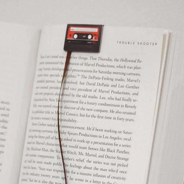 Penanda Halaman Buku Bentuk kaset