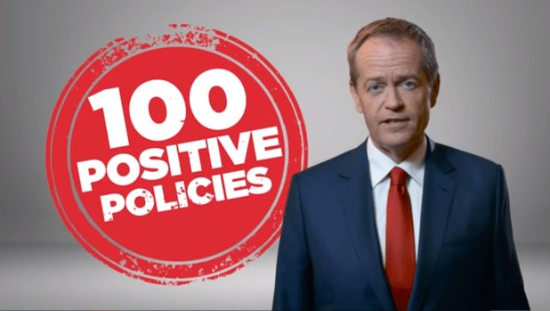 Bill Shorten appears in a Labor TV ad