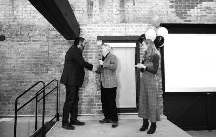 Dimension Mill Opening Party - Speakers, Audience, Demo's, & DJ - 11-15-2018 - by Benedict Jones & Sabra Binder-121
