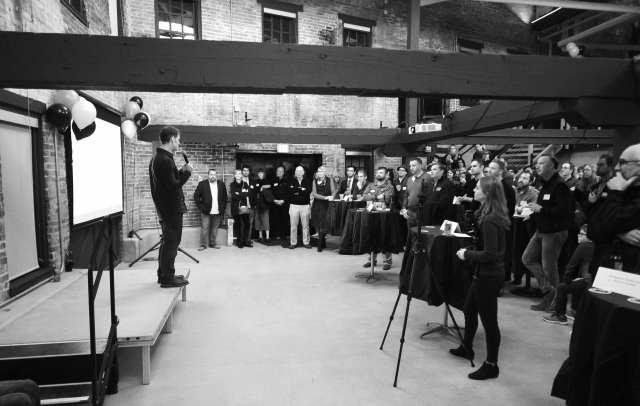 Dimension Mill Opening Party - Speakers, Audience, Demo's, & DJ - 11-15-2018 - by Benedict Jones & Sabra Binder-128