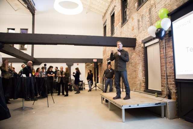 Dimension Mill Opening Party - Speakers, Audience, Demo's, & DJ - 11-15-2018 - by Benedict Jones & Sabra Binder-82
