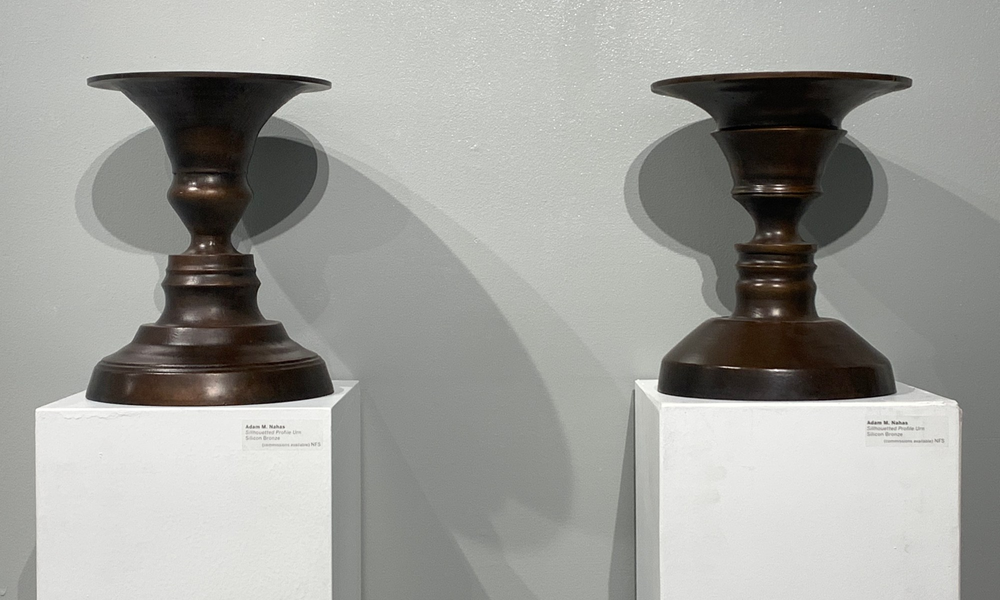 Adam Nahas- Silhouetted Bronze Memorial Urns