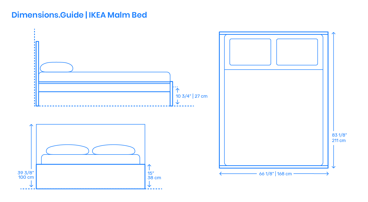 ikea malm bed frame dimensions