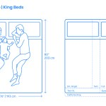 King Size Bed Dimensions Drawings Dimensions Com