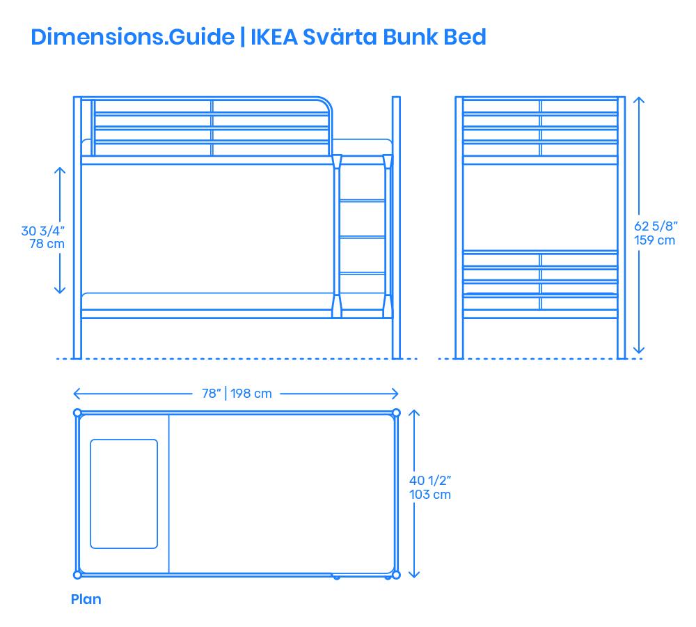 Ikea Svarta Bunk Bed Dimensions Drawings Dimensions Com