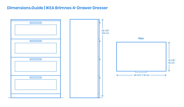 Ikea Brimnes 4 Drawer Dresser Dimensions Drawings Dimensions Com