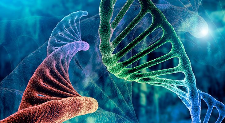 DNA strand graphic