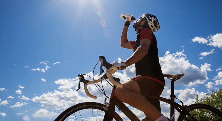 cyclist drinking