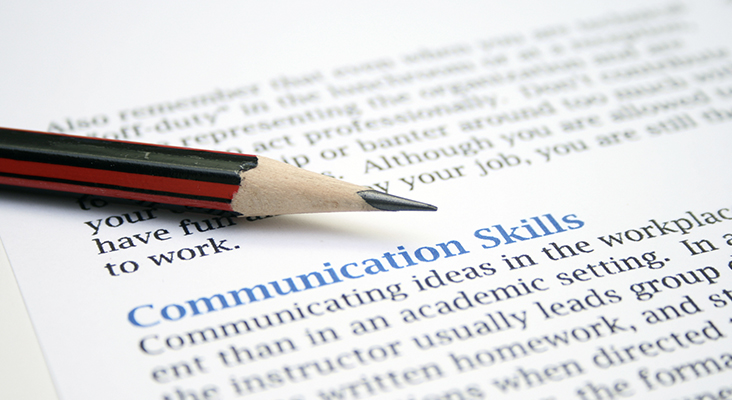 pencil on communications skills definition