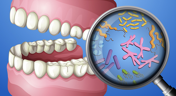 A Close-up Oral Bacteria illustration