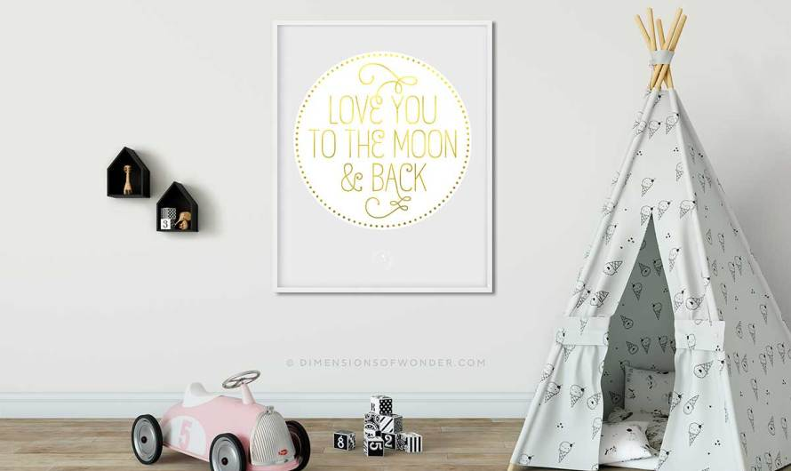 'Love you to the moon and back' Printable Wall Art