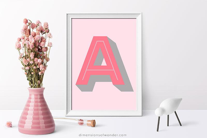 monogram-printables-font-rig-shaded-A-pink-grey-2