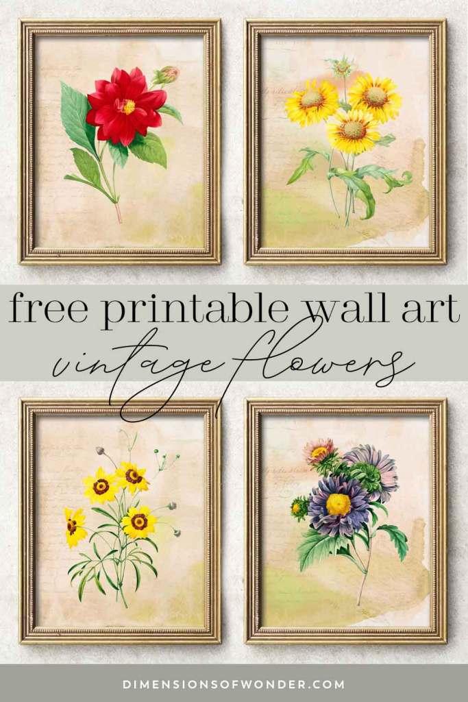 Vintage-Flowers-Free-Printable-Wall-Art-Combo-PinLQ