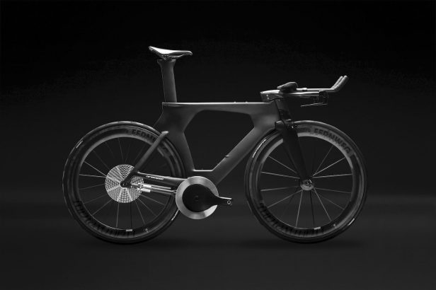 Vélo de chrono équipé de Driven de CeramicSpeed