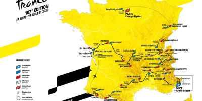 Carte du Tour 2020