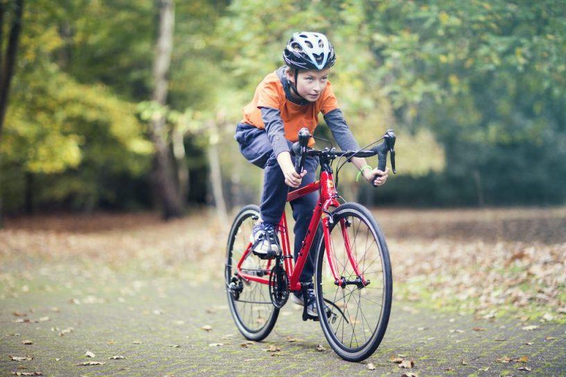 vélo de route Frog avec enfant