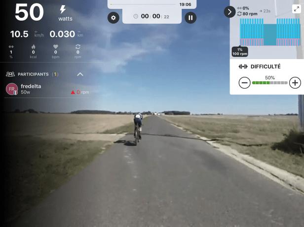 Kinomap Simulation home-trainer