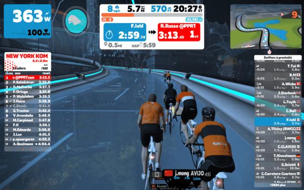 Zwift l'entraînement virtuel