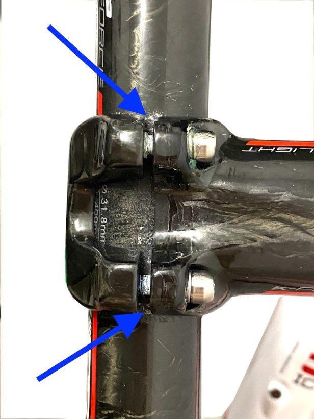 Montage d'un guidon carbone