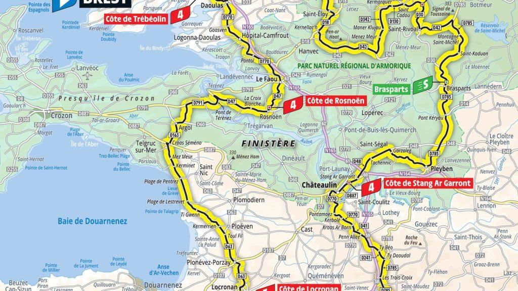 2021 Tour de France étape 1 Carte