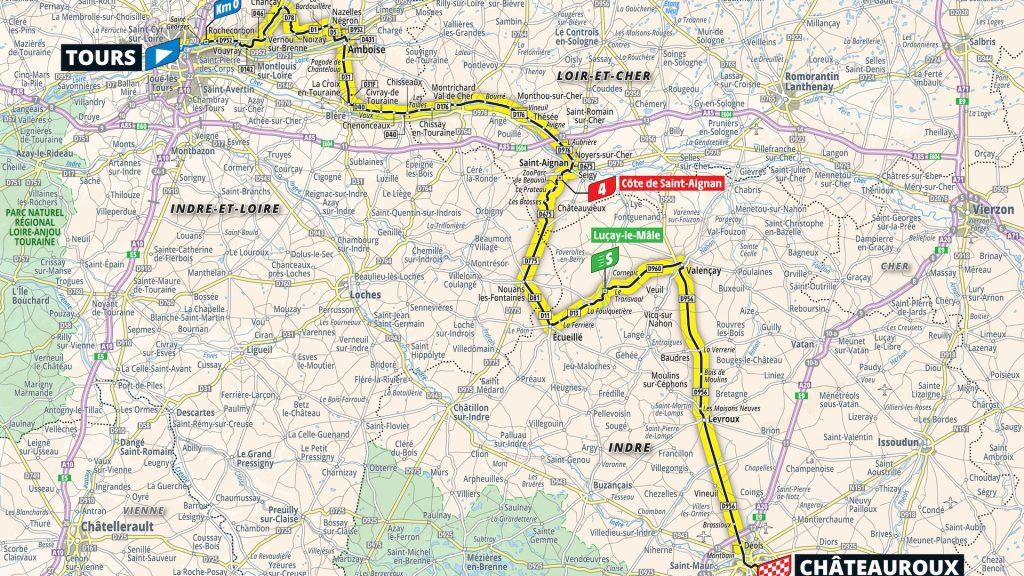Étape 6 Tour de France 2021 carte