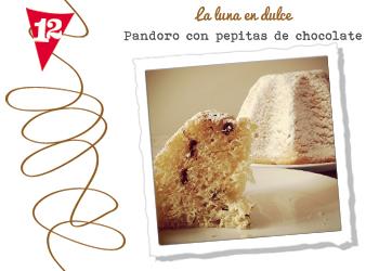 Pandoro con chocolate