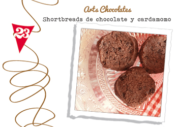 shortbreads de chocolate y cardamomo