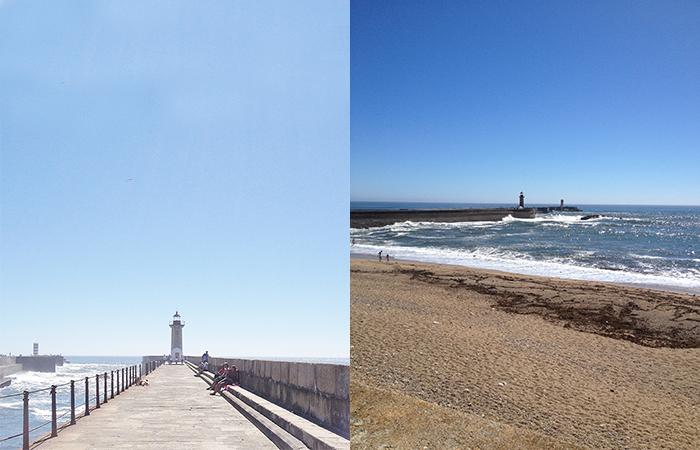 Playas de Foz y Faro de Porto