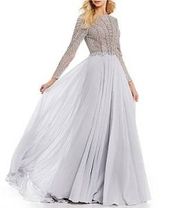 Women s Wedding Dresses   Bridal Gowns   Dillards Terani Couture Long Sleeve Beaded Bodice Ball Gown