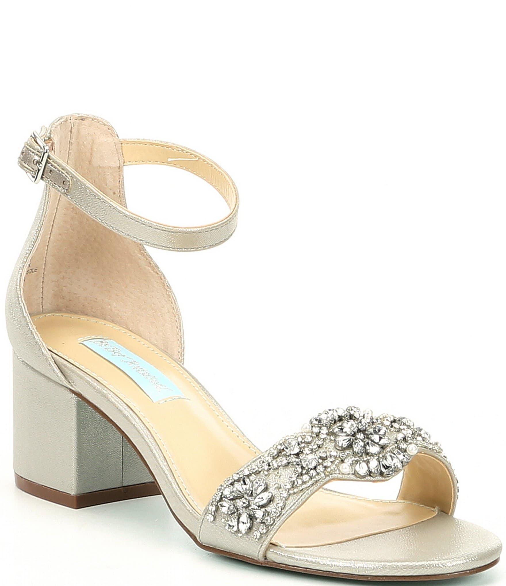 Silver Block Heel Wedding Shoes Aliexpress 4d252 53046