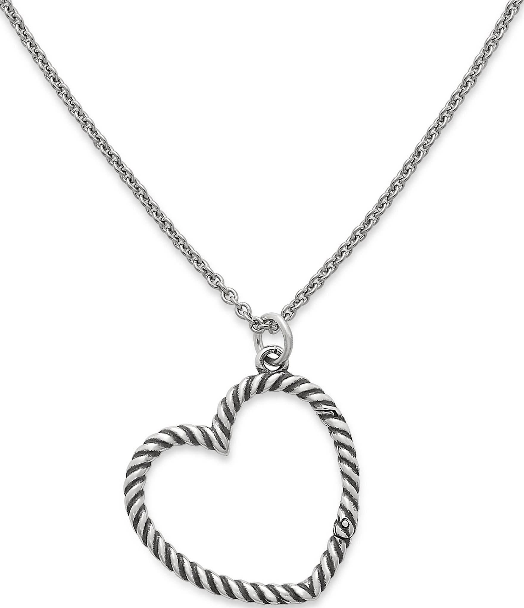 James Avery Changeable Heart Charm Holder Necklace