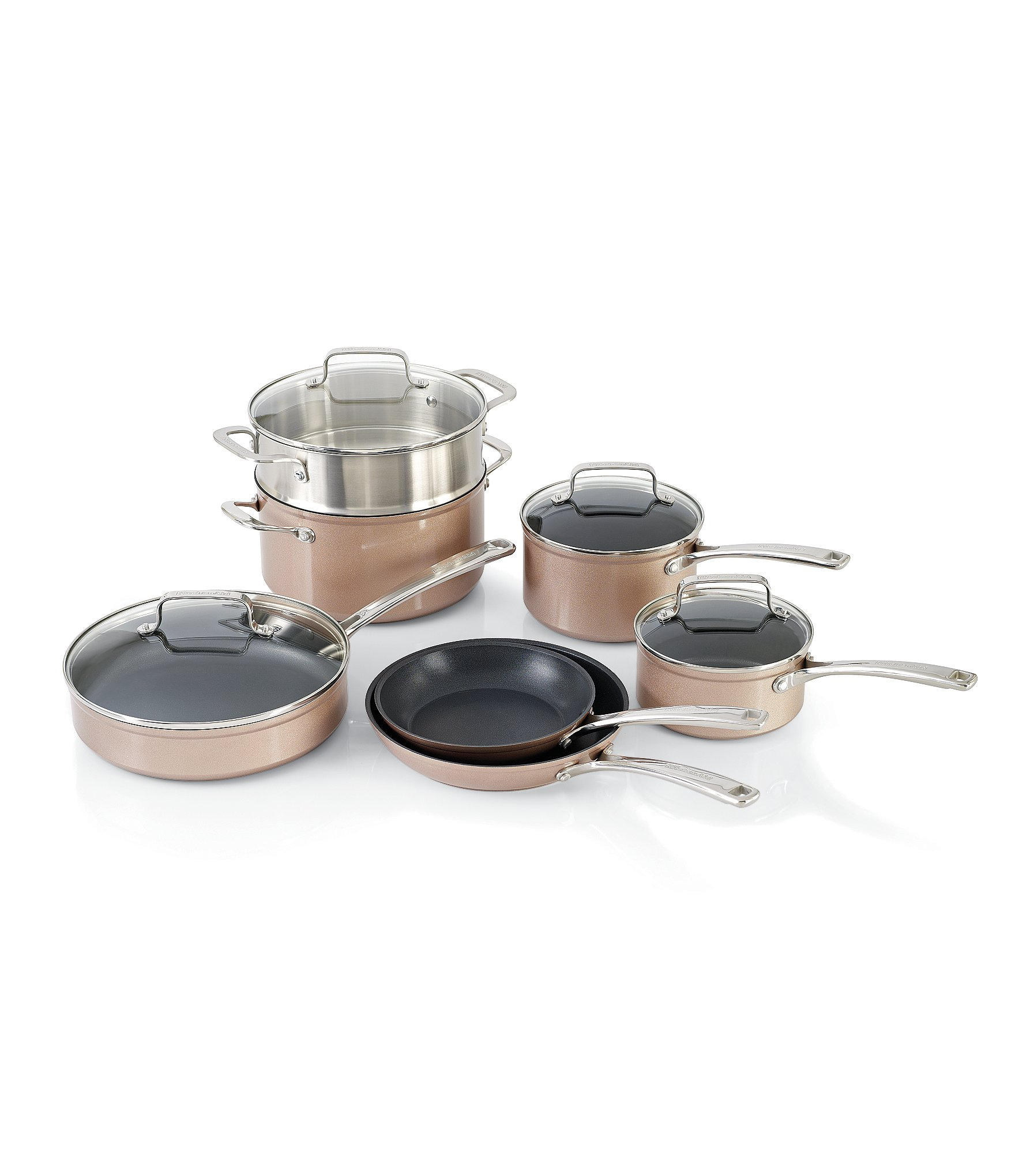 KitchenAid Toffee Delight Hard Anodized Nonstick 11 Piece