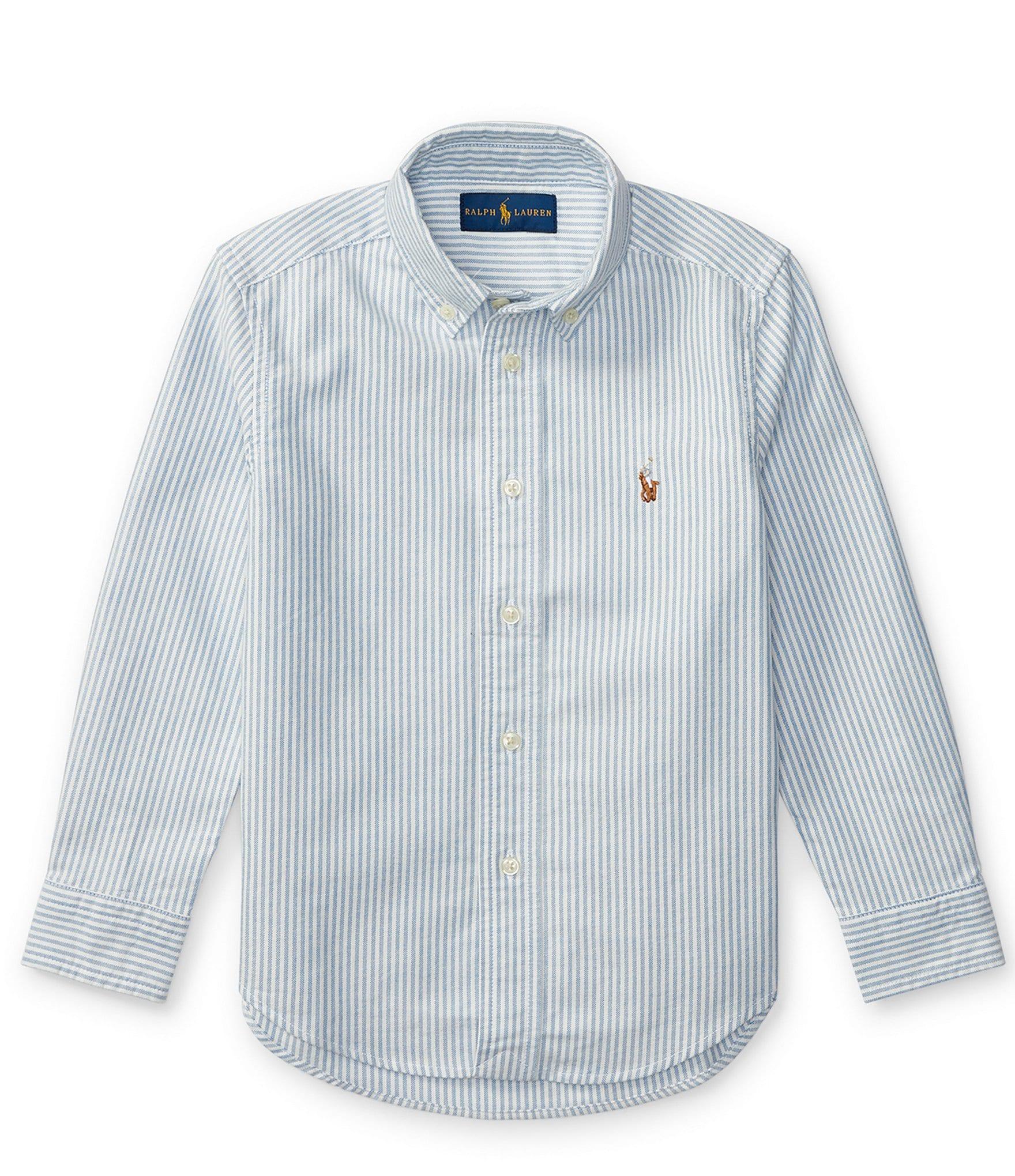 Ralph Lauren Childrenswear Little Boys 2T 7 Striped Long Sleeve Oxford Shirt Dillards