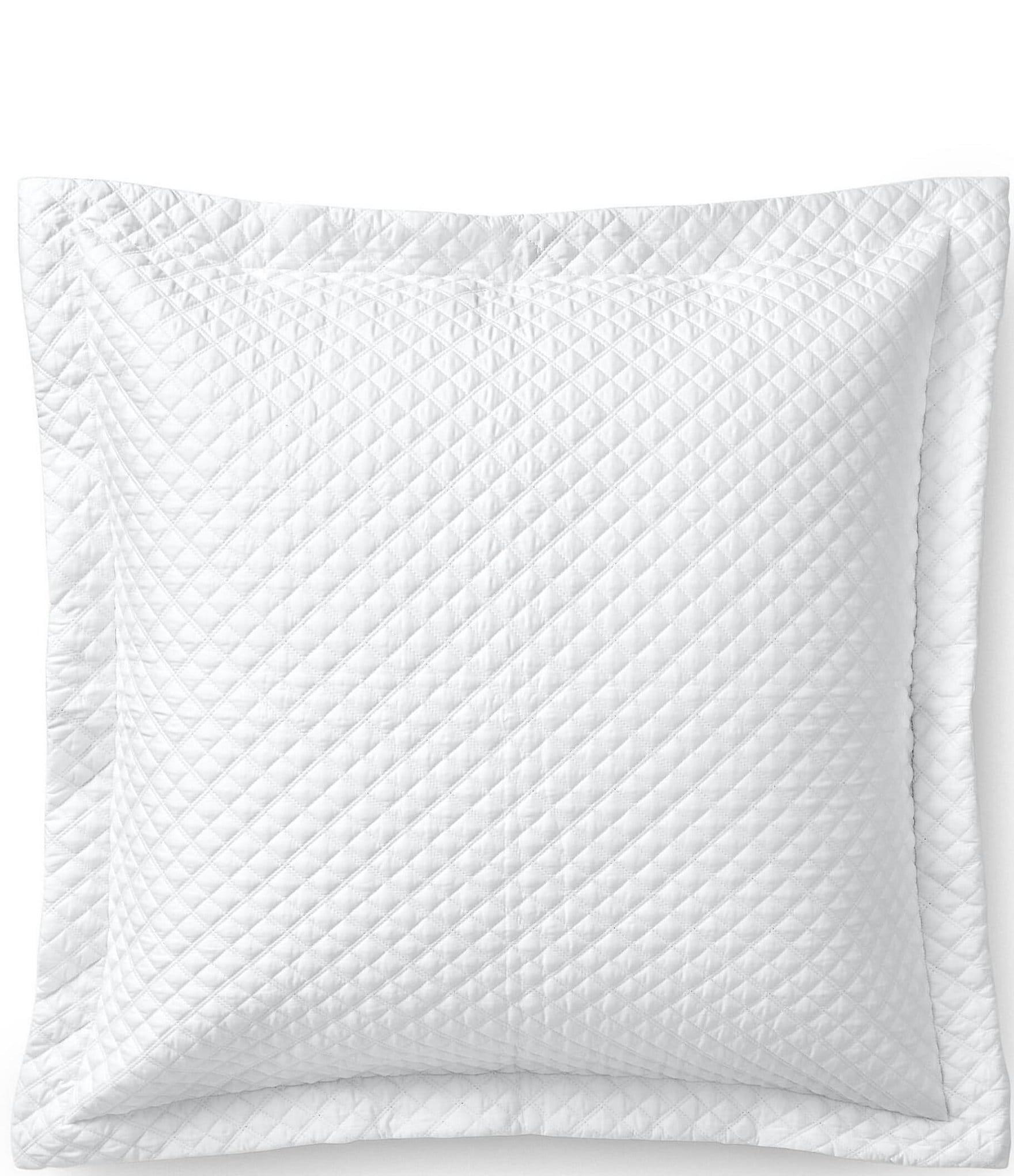 white sham pillows online