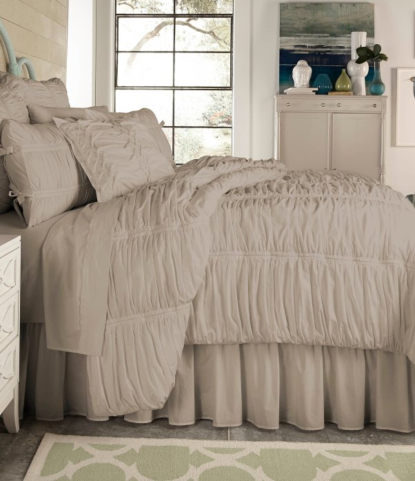 Image result for down comforter and ruched duvet